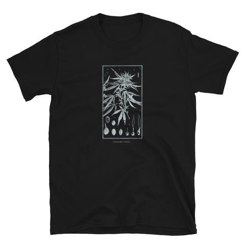 Occult Psychoactive Drug Cannabis Gothic Grunge Tarot Weed design T-shirt