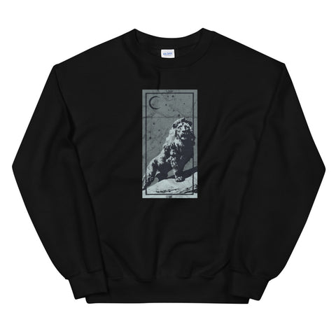 Occult Zodiac Leo Lion Tarot Card Astrology Gothic Horoscope design Unisex Sweatshirt
