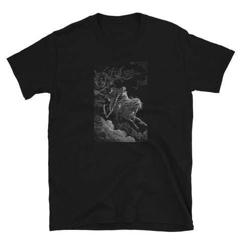 Death Gustav Dore Vintage Illustration Kurzärmeliges Unisex-T-Shirt