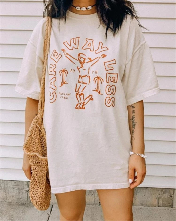 Everyday personality printed T-shirt