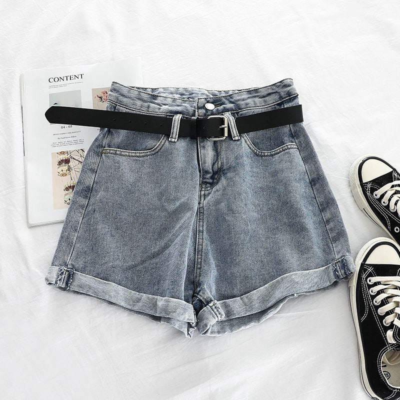Fashion Curling Denim Shorts