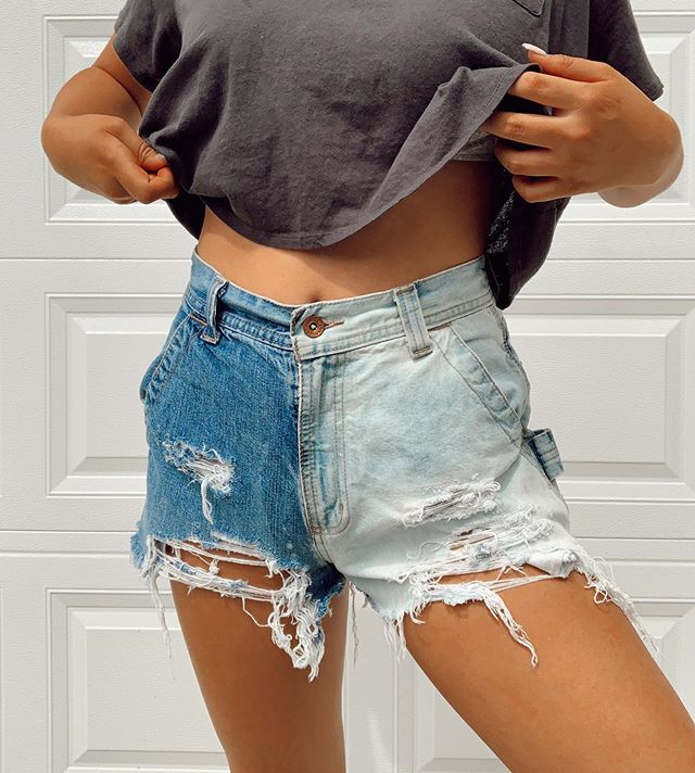 Sexy High-waisted Denim Shorts