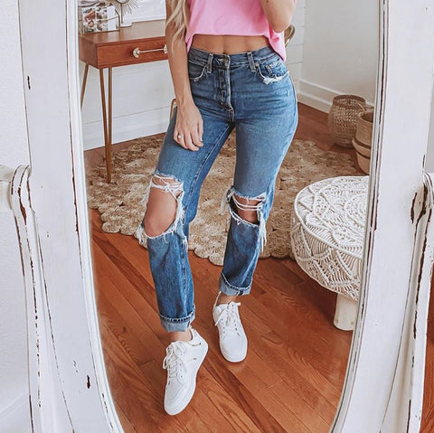 Wide leg straight leg jeans for women wq48