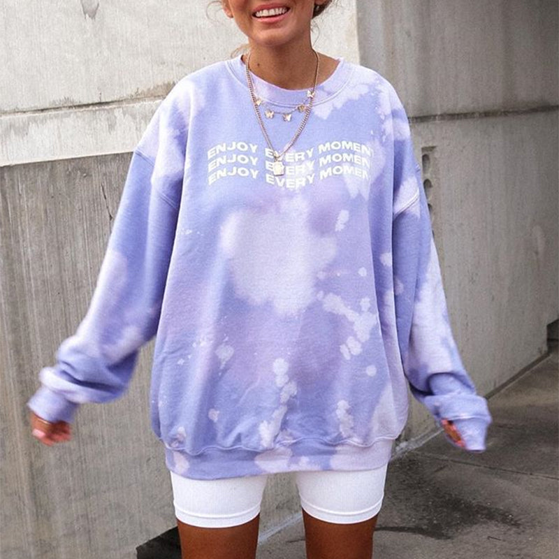 Lilac Enjoy Every Momeent Sweatshirt