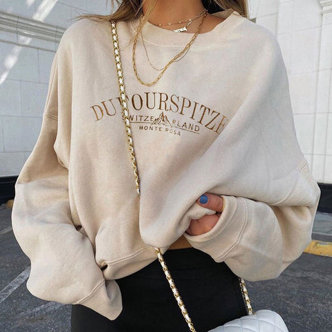 Mountain print sweatshirt