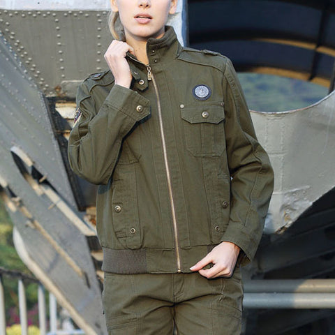 Womens windproof outdoor tactical jacket