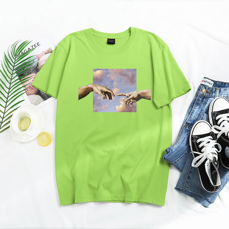 Casual Printed Short-sleeved T-shirt