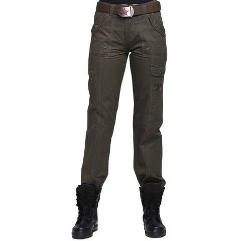 Womens outdoor tactical multi-pocket pants