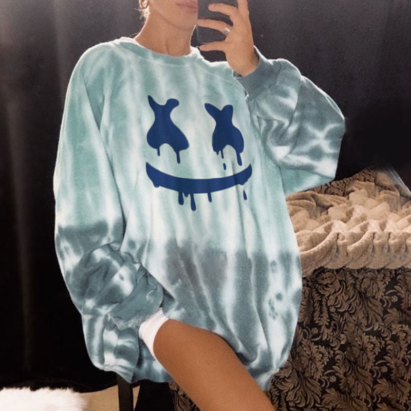 Printed Basic Long-sleeved Sweatshirt