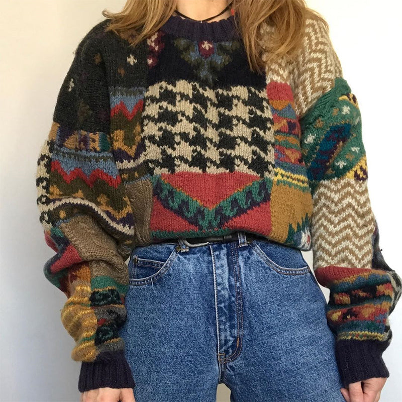 Womens Vintage Knit Sweater