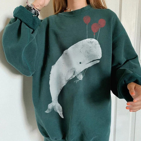 Basic casual wild long sleeve pullover sweatshirt wq42