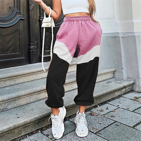 Color matching fashion casual pants