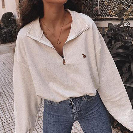 Vintage round neck printed long-sleeve Sweatshirt