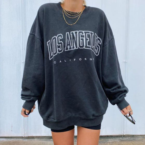 Vintage basic long sleeve sweatshirt
