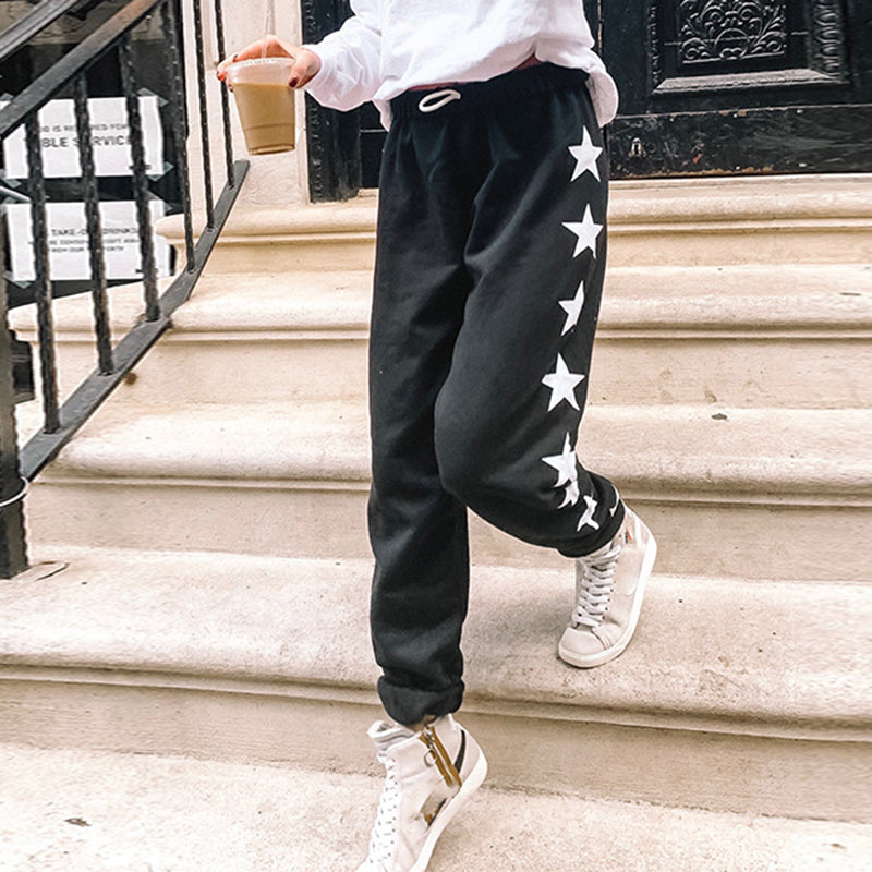 Fashion Casual Five-pointed Star Print Sweatpants