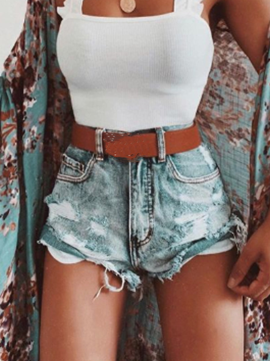 Sexy Ripped Denim Shorts