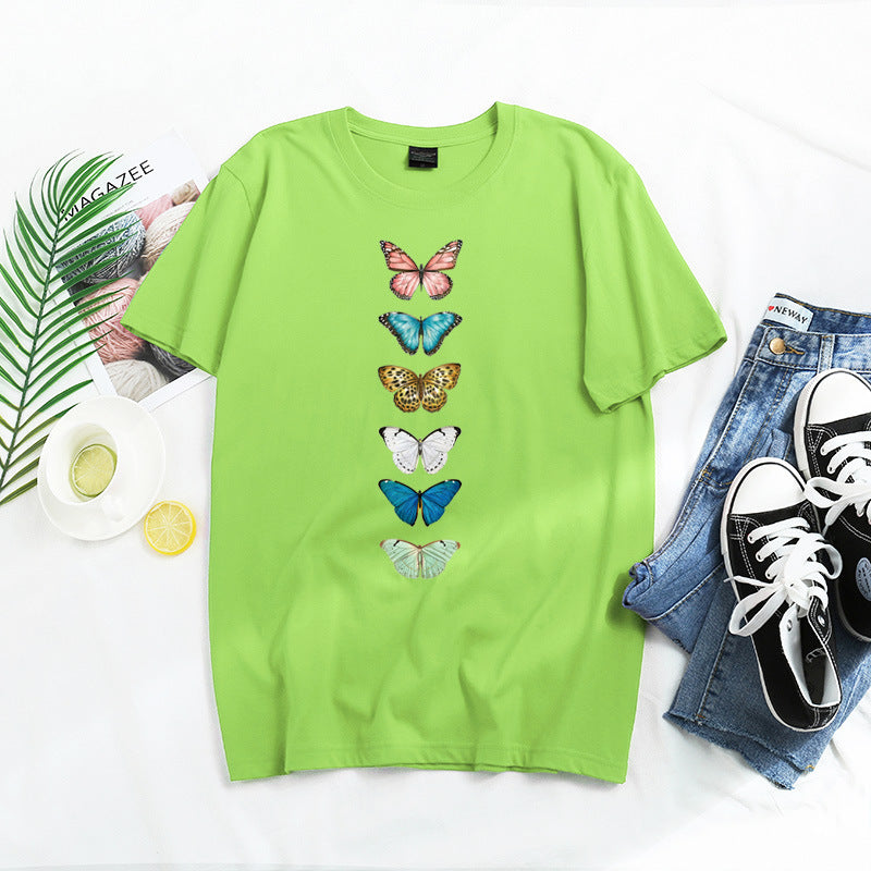 Casual Butterfly Print T-shirt