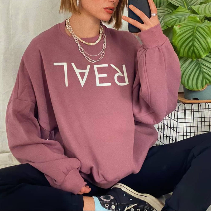 Vintage long-sleeved sports sweatshirt