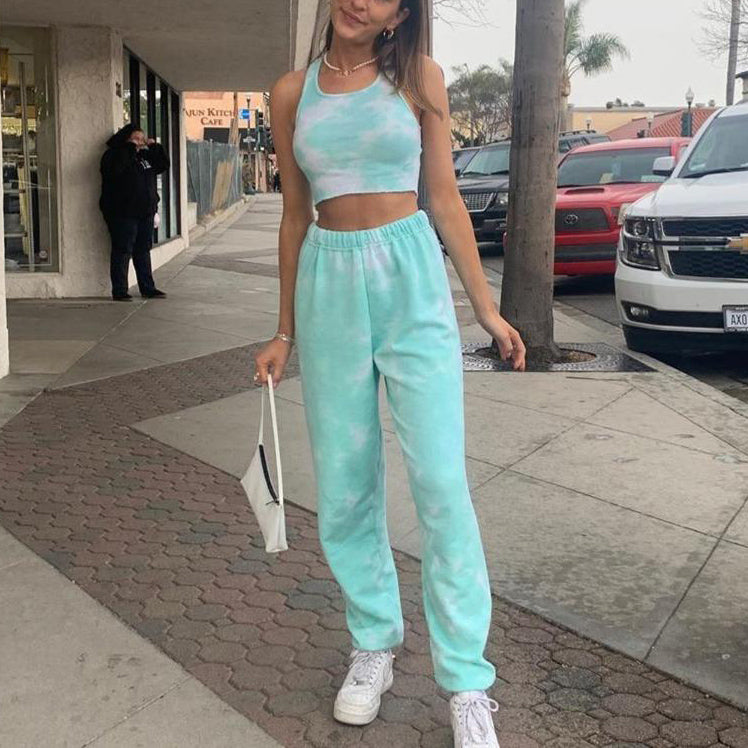 Cool Tie Dye Jogger Two Piece Set