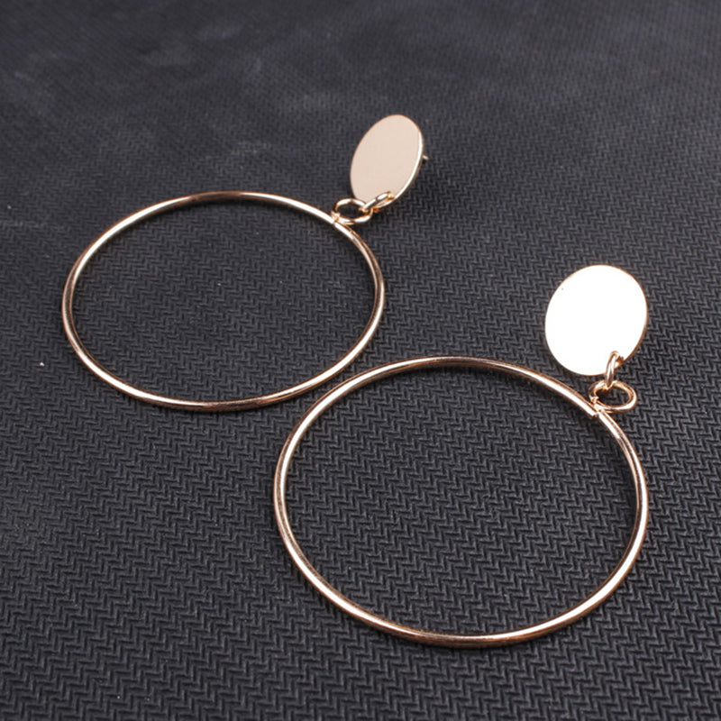 Simple Large Circle Earrings