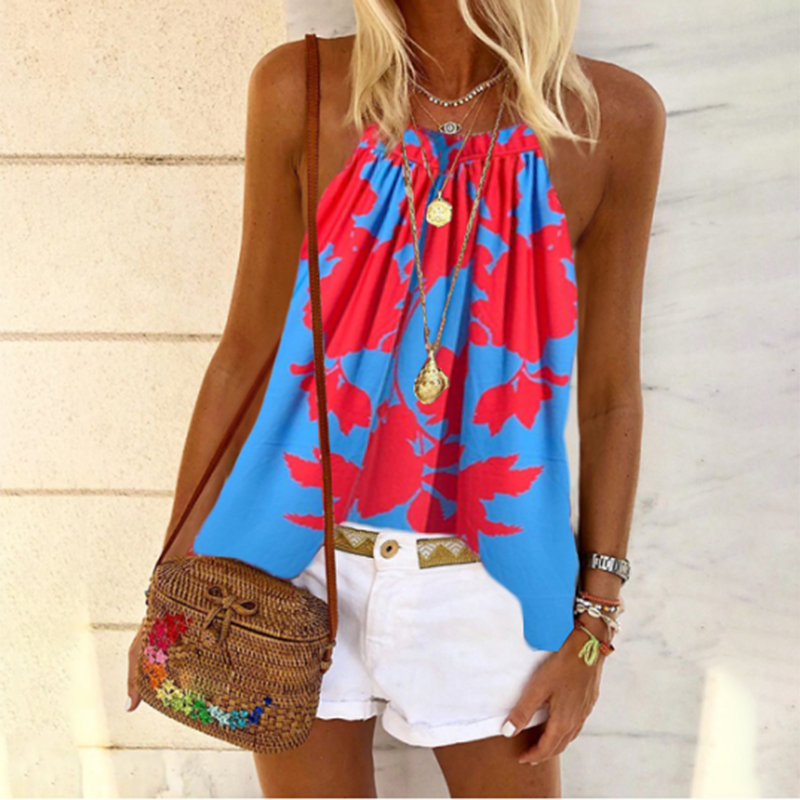Women's Fashion Print Sling Tops Tops
