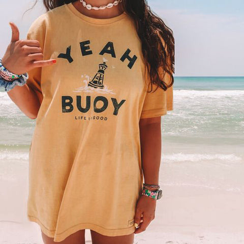 Holiday casual letter printed short-sleeved T-shirt