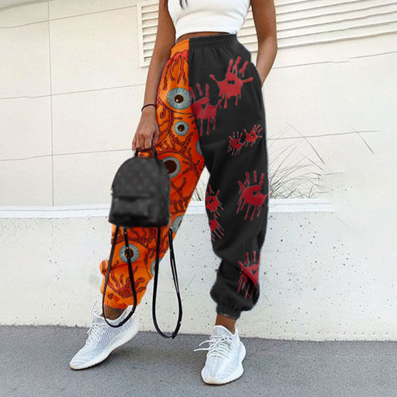 Halloween print basic sweatpants