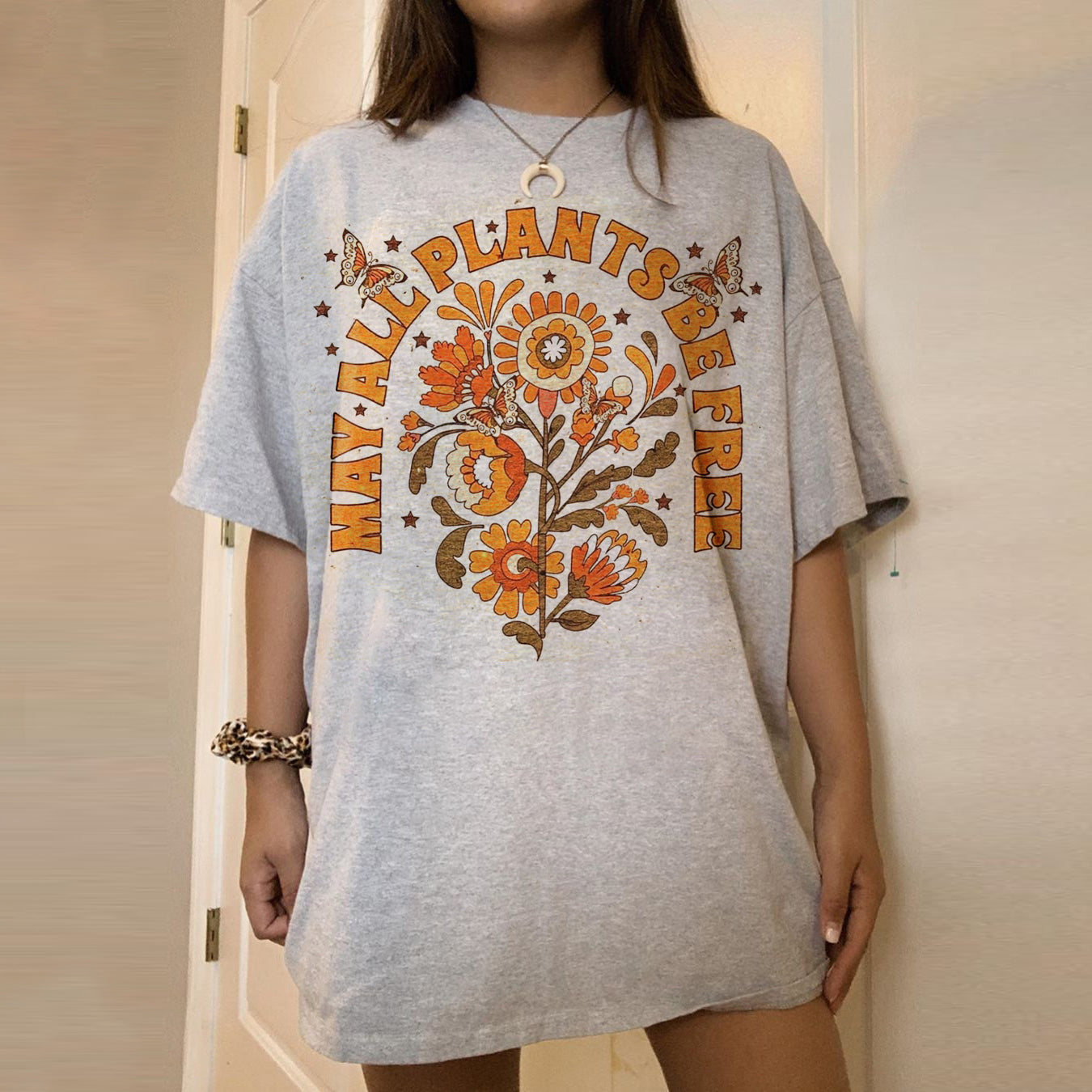 Loose short sleeve pullover casual basic T-shirt