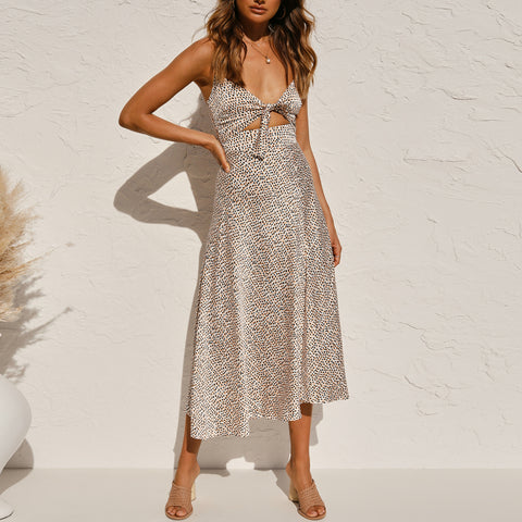 Fashionable Lace Sleeveless One Piece Long Dress