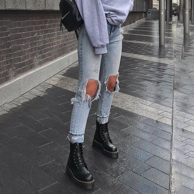 Womens casual baggy jeans