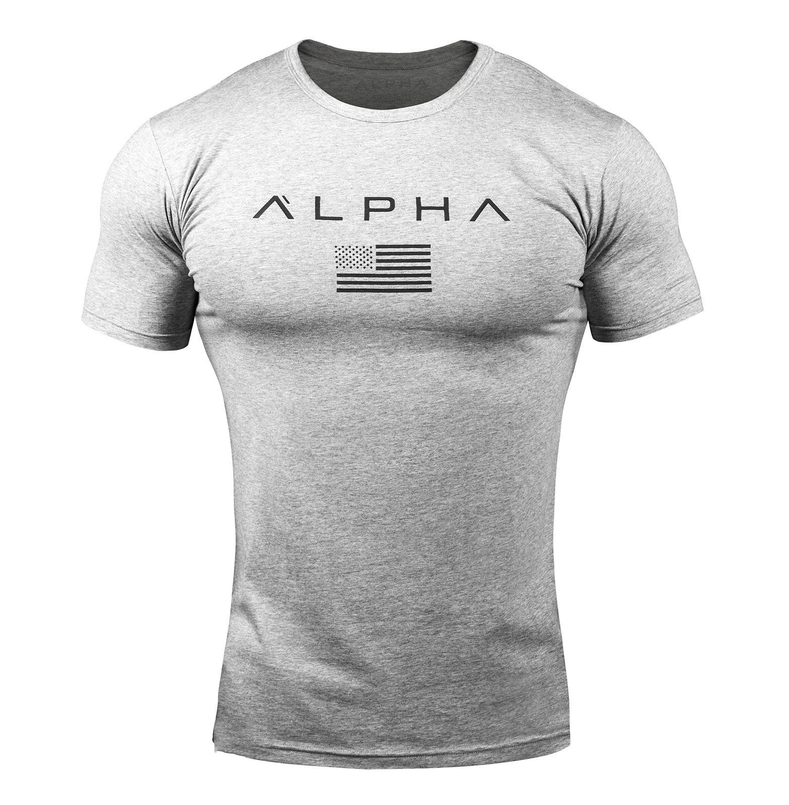 Alpha Flag Athletic-Fit T-shirt