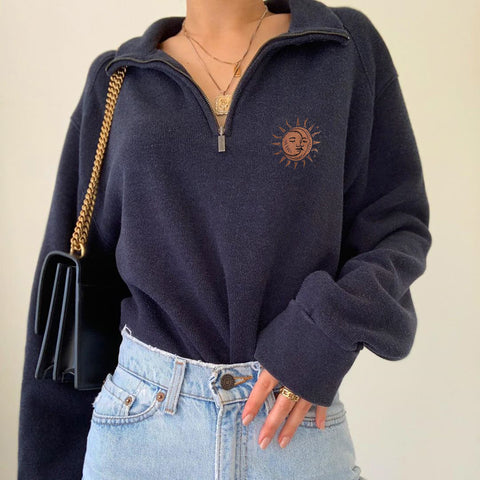 Simple and versatile sailing casual sweater