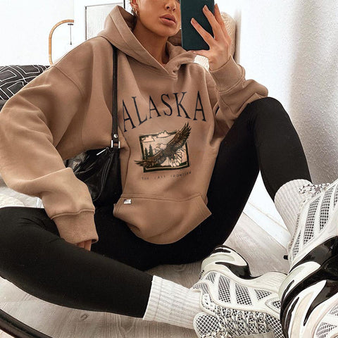 Fashion Casual Long-sleeved Printed Sweatshirt