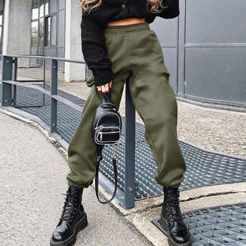 Womens high waist casual sports pants