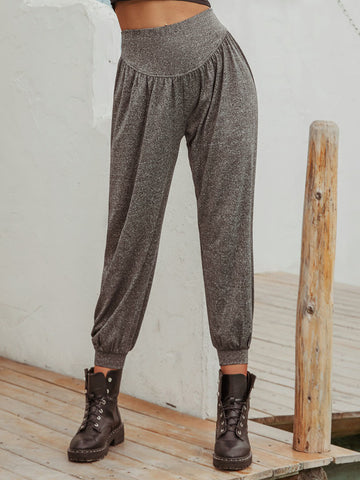 Womens High Waist All-match Casual Sports Trousers