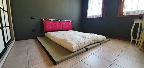 Kit 2 Tatami + Futon Cotone e Lattice 100% Naturale
