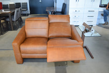 Load image into Gallery viewer, Loveseat AB Caramel Leather Electric Reclining