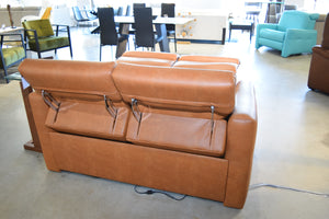 Loveseat AB Caramel Leather Electric Reclining