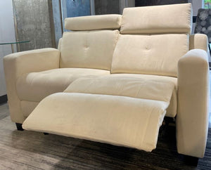 Loveseat VB Cream Reclining Electric