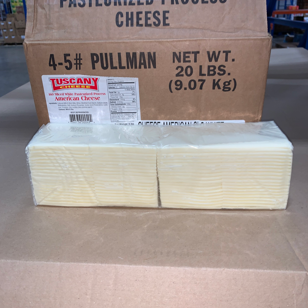 Cheese, American Sliced White 5Lbs