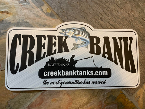 "Logo sticker 12"" x 6"""