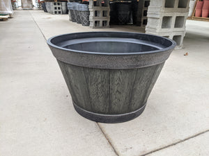 "21"" Whiskey Barrel Planter"