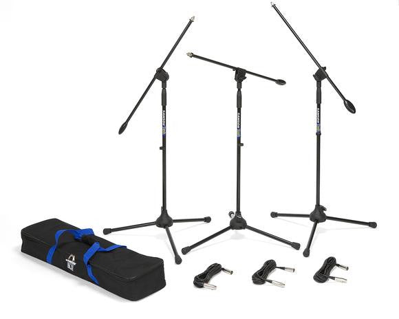 Samson BL3 VP Boom stand and cable 3-pack