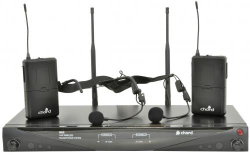 Chord RU2-N Dual Channel UHF Neckband / Headset Wireless Microphone System