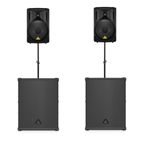 Behringer PA Package 2x B215D Active  Speakers Plus 2x B1800XP Active Subs
