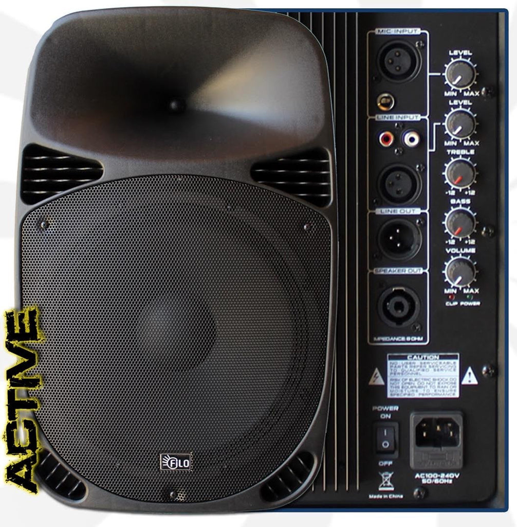 "FILO FCA15A 15"" Active Moulded Speaker MP3/USB/SD/FM Bluetooth 15in 200W (Single)"