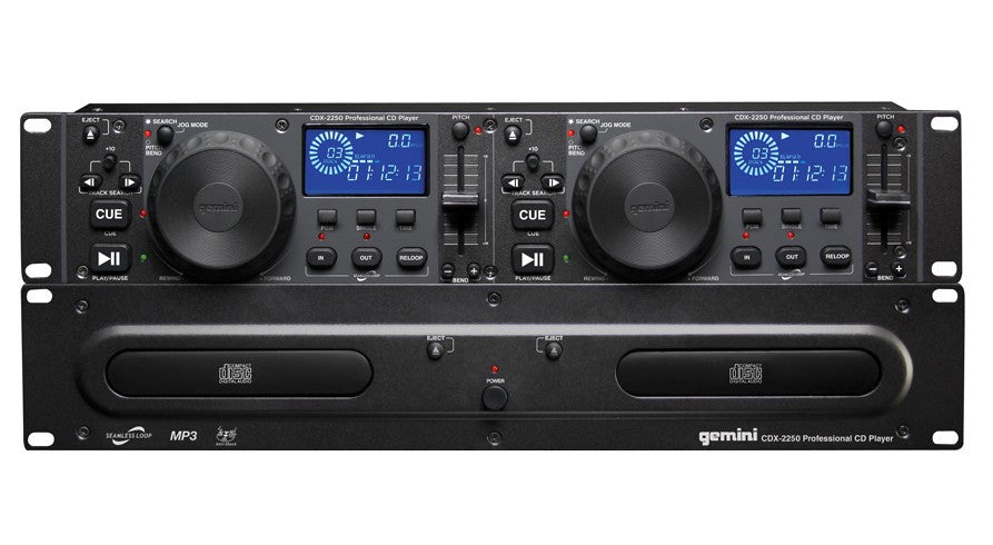Gemini CDX-2250 Dual Rackmount CD player