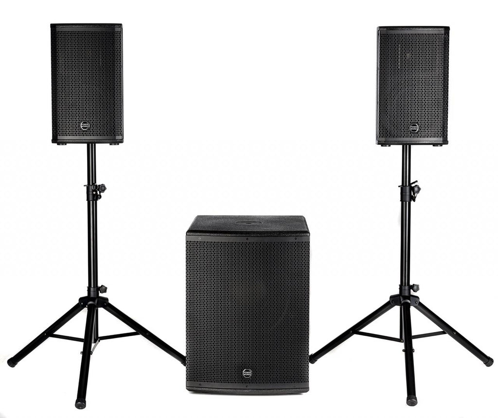 Powerworks MERCURY P15.2 800 Watt Active 2.1 PA System with Mixer, DSP and Bluetooth
