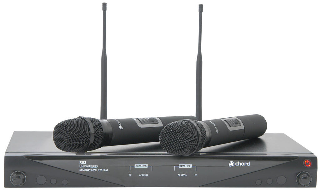 Chord RU2-H	Dual handheld UHF wireless mic set