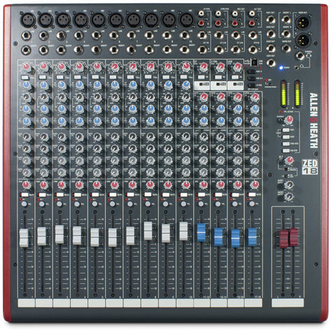 Allen & Heath ZED-18 - 18-Channel Recording and Live Sound Mixer with USB Connection